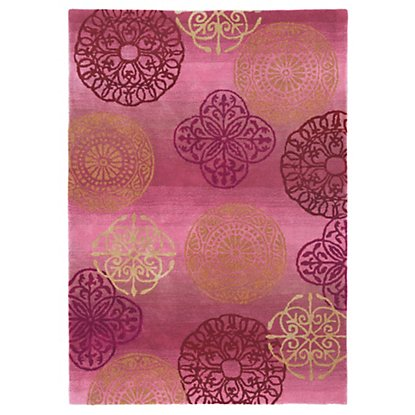 {Company C rug's are always colorful and this pink one does not disappoint! From  CompanyC .}