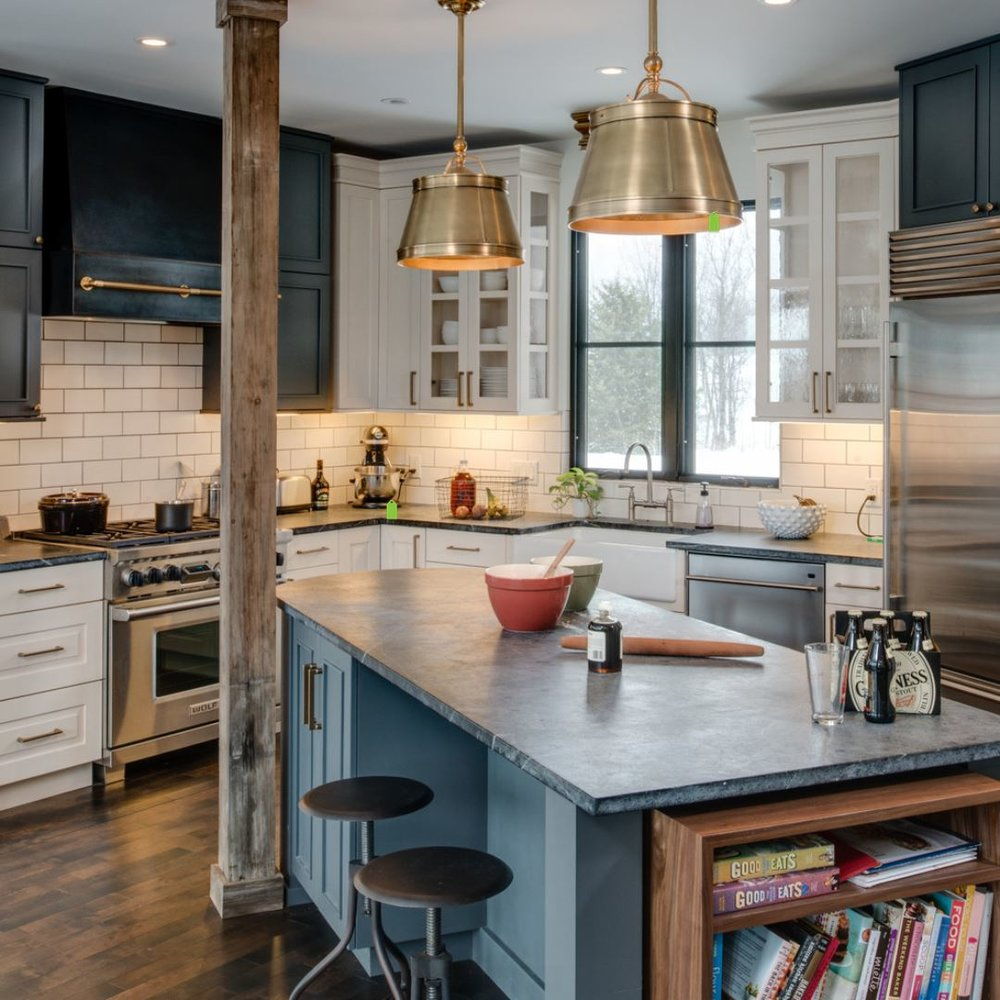 {Soapstone is a green option, although not the most cost-effective. However, it's durability can withstand the test of time making it worth the investment. From:  Remodeling Image .}