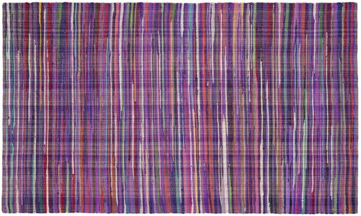 {Make your feet and eyes happy with a rug beaming with Ultra Violet stripes. By: Safavieh, available here.}