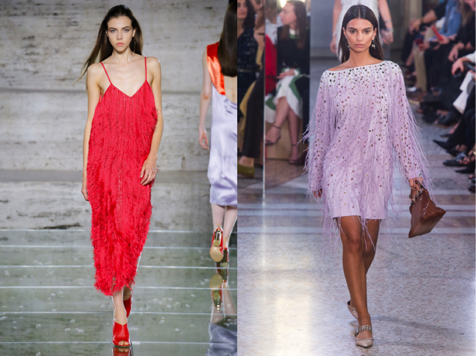 {Left:  Salvatorre Feragamo . Right:  Bottega Veneta .}