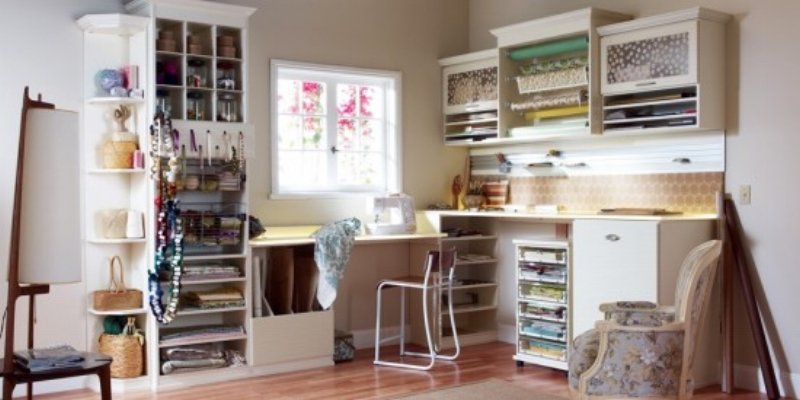 {A room for your favorite hobby is a great way to use a newly-empty room. From  Californiaclosets.com }