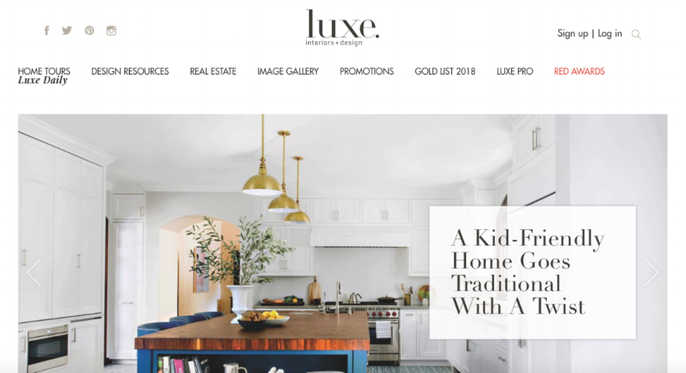 Luxe Interiors + Design Homepage Website