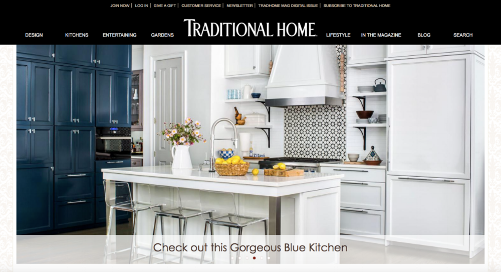 Traditional Home Website Homepage