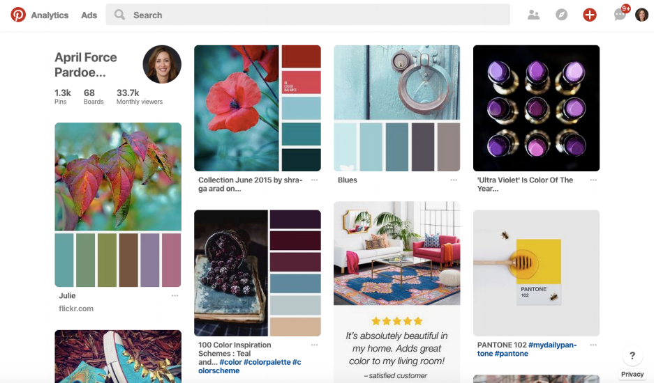{Check out  April Force Pardoe Interiors' Pinterest boards !}