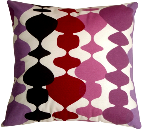 {A purple throw back with this retro Lava Lamp pillow. From  Pillow Decor .}