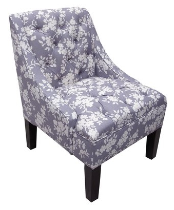 {Add a touch of lavender with this printed side chair. From:  Target .}