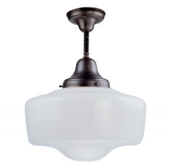 {Semi flush mount light from Schoolhouse Collection, DVI, $150}