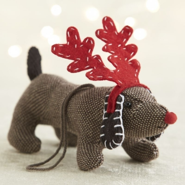 {I love dogs and these little guys are beyond adorable with their holiday antlers! From:  Crate & Barrel. }