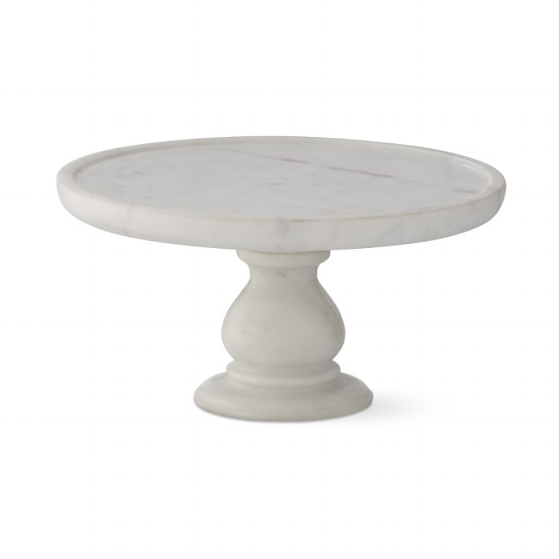 {Marble Round Stand. From:  Williams Sonoma .}