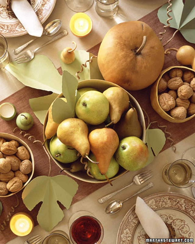 "{""A Harvest Table"" tablescape. From:  Martha Stewart. }"