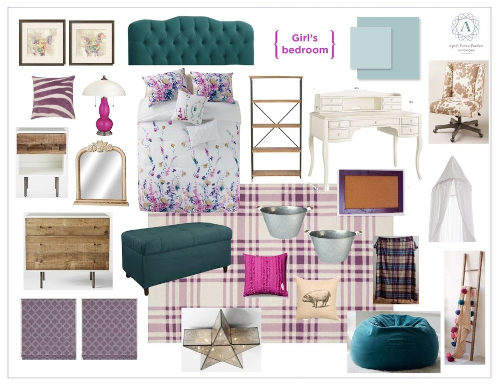 {A mood board from a past project we did as a Room Refresh before it was an official service.}