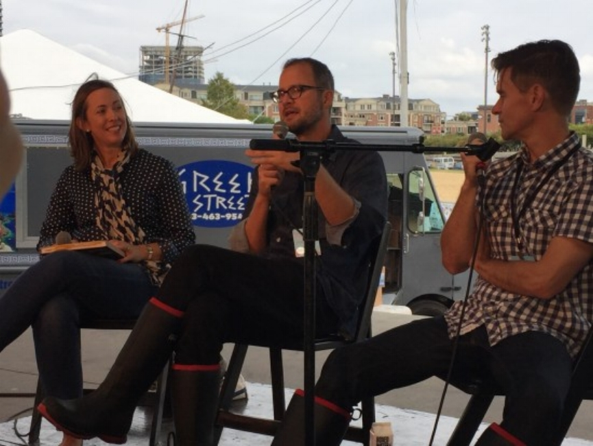 {That's me, chatting with the Beekman Boys at the 2015 Baltimore Book Festival!}