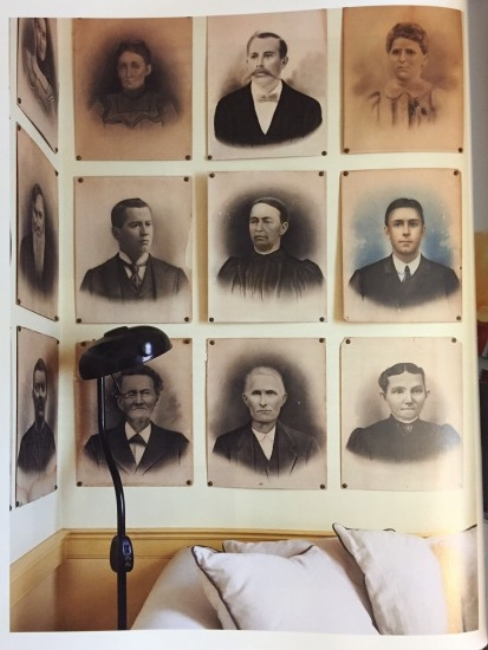 """{The walls of the """"writing room"""" in the Beekman farmhouse.}"""