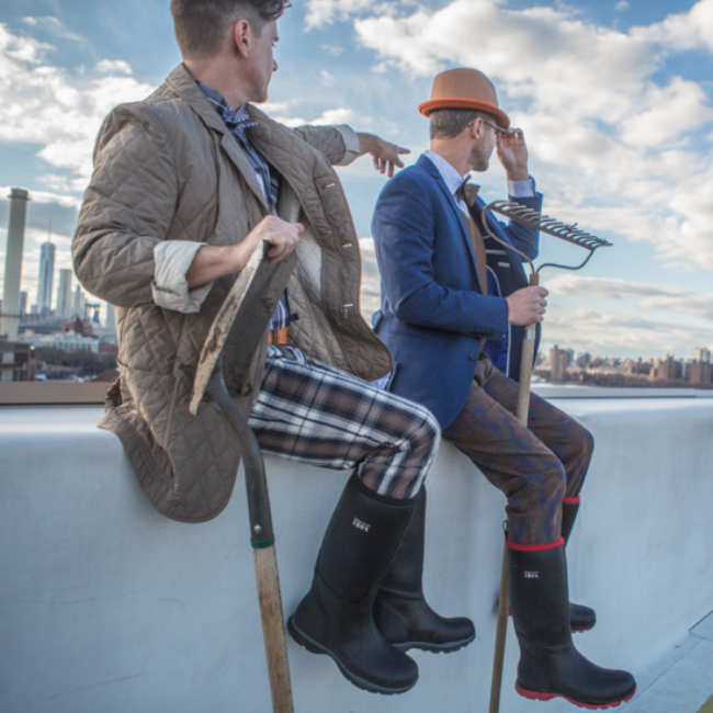 {Brent & Josh wearing their B. 1802 Muck boots and looking oh so stylish!}