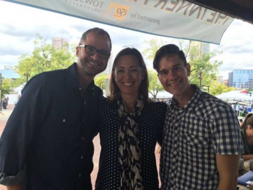 {Josh, me & Brent after our interview at the 2015 Baltimore Book Festival.}
