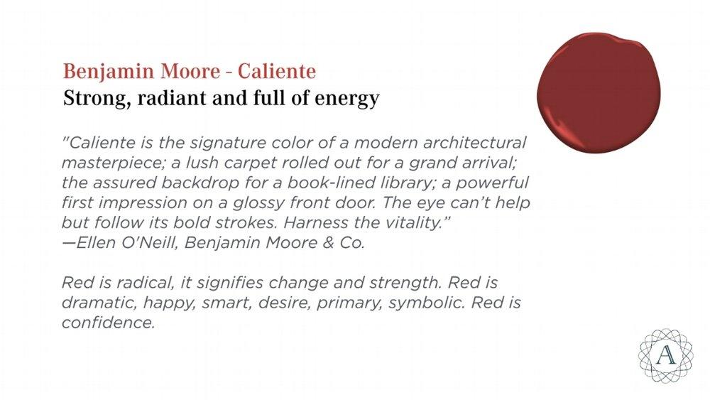 Benjamin Moore Caliente Color Paint Inspiration