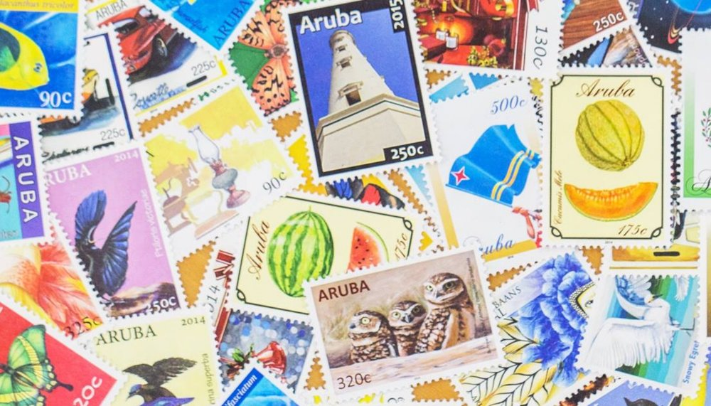 {These colorful stamps embody the Caribbean.From:  Post Aruba .}