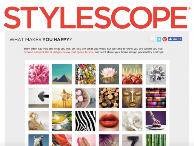 Stylescope Quiz HomeGoods Design Style Personality