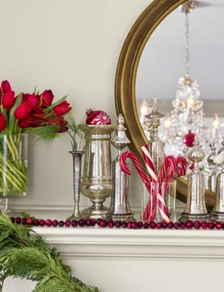 {Candy and silver—doesn't get any better than this!From:  Country Living .}