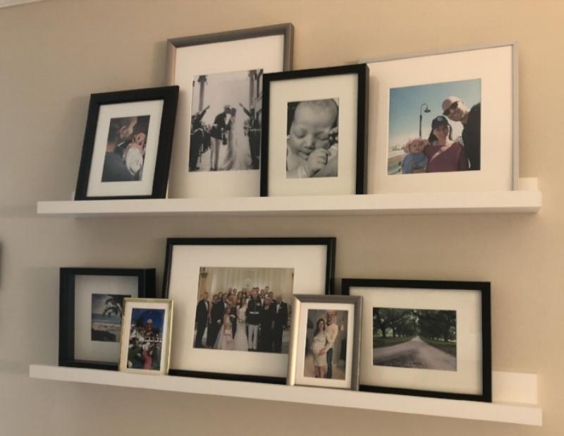 {Kyler's personal favorite - her gallery wall.}
