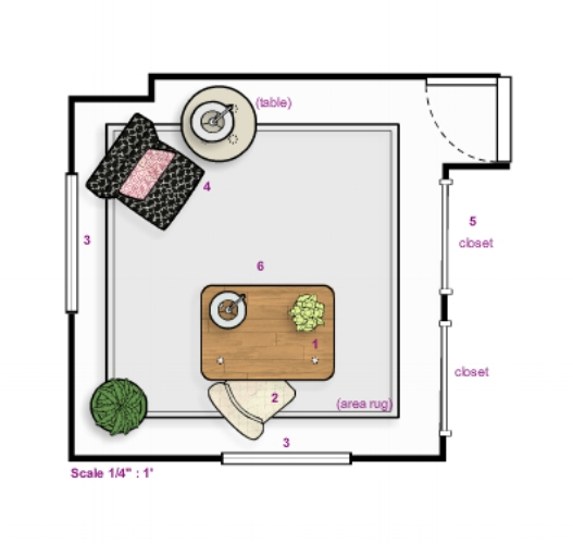 {Floor plan I created for the 2010 Historic Ellicott City decorator show house.}