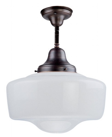 {Semi-flush mount light from Schoolhouse Collection, DVI.}