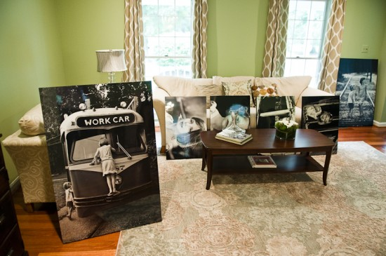 {The box framed photos are unpacked and ready to be hung on the wall! Photo by  Mary Gardella .}