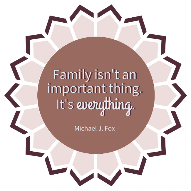Quotes about Family Michael J. Fox Thanksgiving Gratitude Thankful