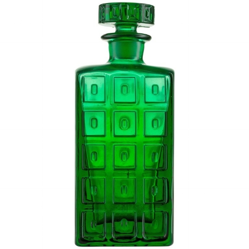 {Handmade Scandanavian Impressed Pattern Glass Emerald Green Whiskey Decanter. From:  1stDibs .}