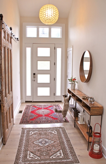{Entryway at the home of Melissa Carstensen, Art Director for  Her Mind .}