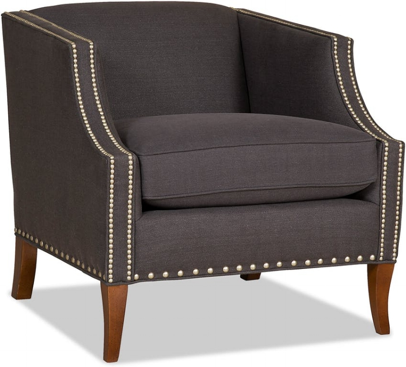 {Look at the great nailhead detail on this  Sam Moore  club chair.}