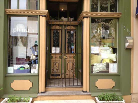 {Phina's for the Home, a linens & gift boutique.}