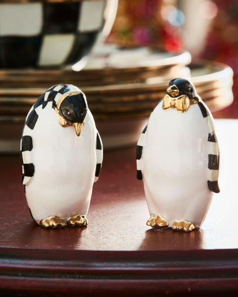 {Penguins with gold bow ties? Adorable and unexpected! From:  Neiman Marcus .}