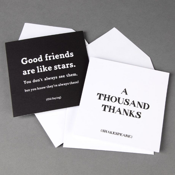 {These notable note cards are great to give and receive. From:  Papyrus }