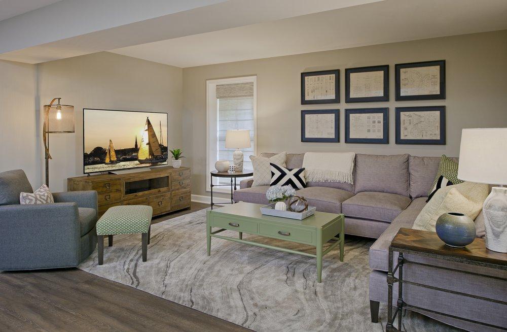 April Force Pardoe Interiors Living Room Family Room Basement Interior Design Inspiration Eldersburg Baltimore Columbia Howard County Maryland