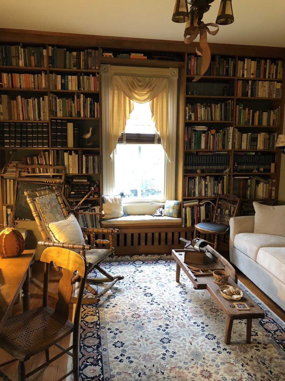 {A favorite for Pat, the library is her soothing escape.}