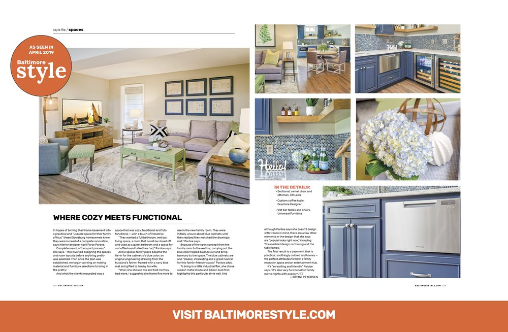 Baltimore Style Magazine Style File Spaces April 2019 Issue