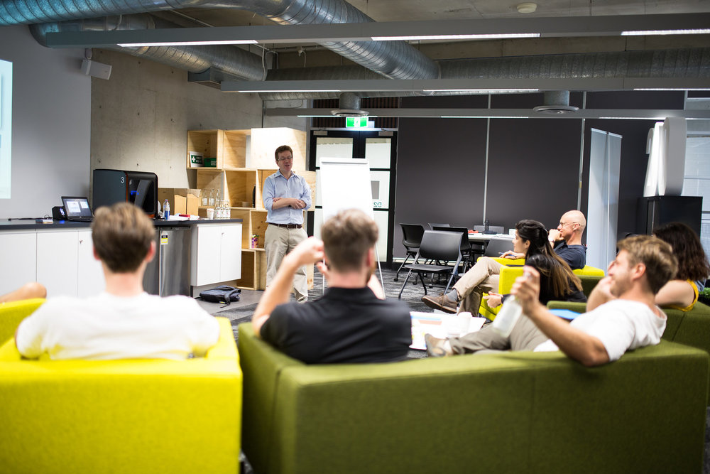 Workshop in action with growth businesses at QUT Brisbane. Photo credit: Marvin Fox Photography