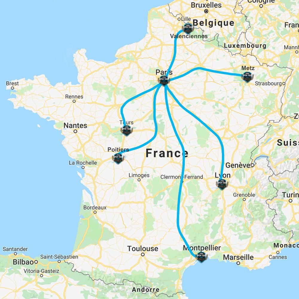 PARIS // LYON // POITIERS // TOURS // MONTPELLIER // VALENCIENNES // METZ