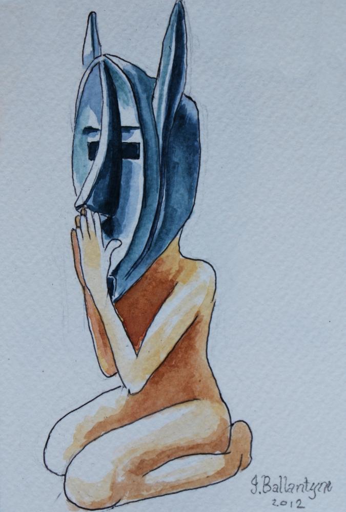 Ancient mask, masks, ritual masks, african mask, tribal mask, tribal mask painting, yoga painting, yoga, yoga mask, prayong, kneeling and praying