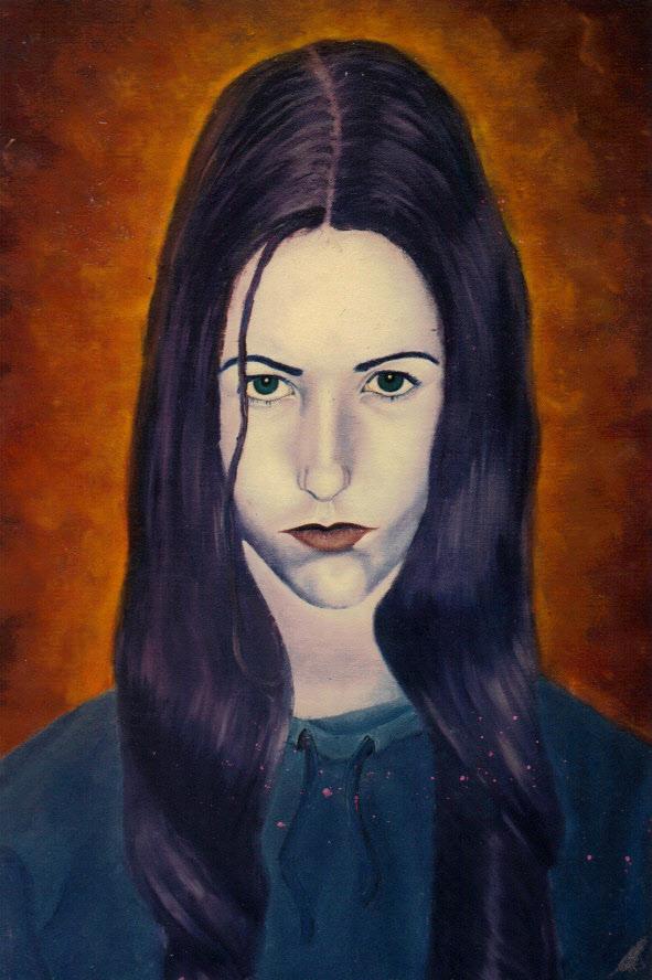 Artist self portrait, self portrait, Jessica Ballantyne, Jessica k Ballantyne, Jessica Ballantyne artist, oil painting, original oil painting, moody painting, surreal portrait, surreal painting