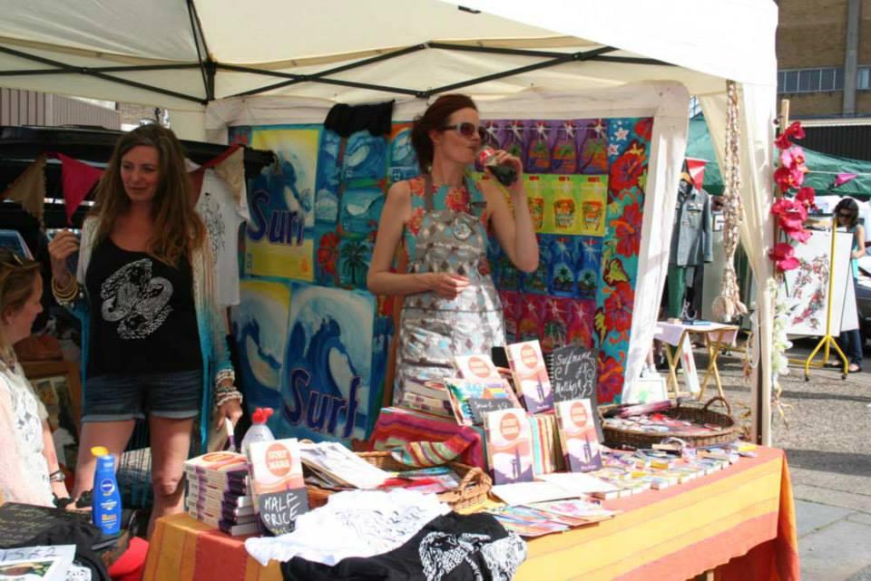 Surf Mama, Wilma Johnson, surf artist, london, art boot fair, art market, art in the park,