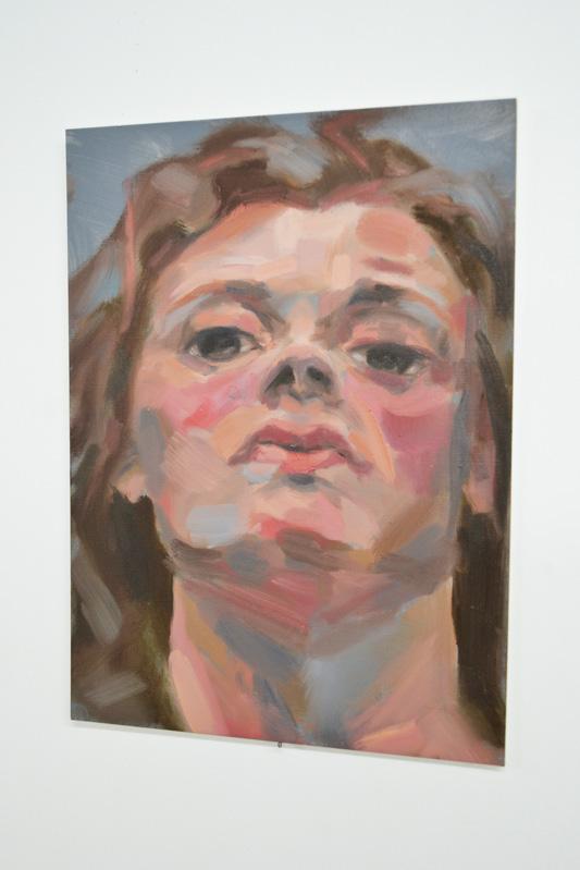 Lauren Mele, portrait, oil painting, the tunnel, exhibition, art, fine art, portrait, london, metamorphosis, franz kafka