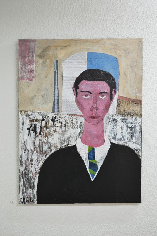Chris Paul Godber, portrait, oil painting, the tunnel, exhibition, art, fine art, portrait, london, metamorphosis, franz kafka