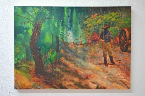 Robyn Litchfield, portrait, oil painting, the tunnel, exhibition, art, fine art, portrait, london, metamorphosis, franz kafka