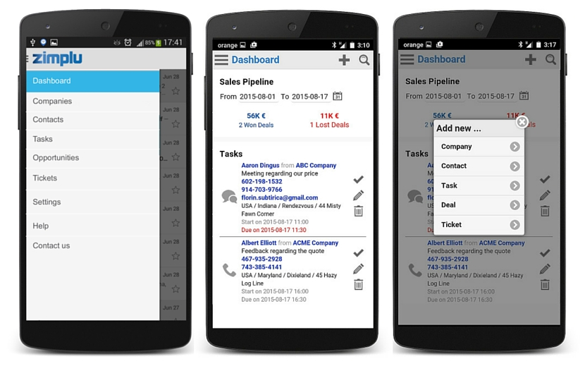 CRM Mobile Application