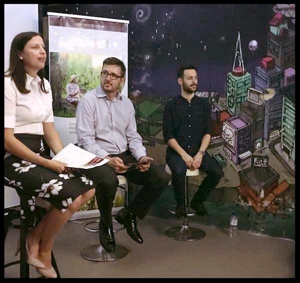 Dr Tash Ayers, Mark Stickells, Omri Wislizki in The Studio Basement