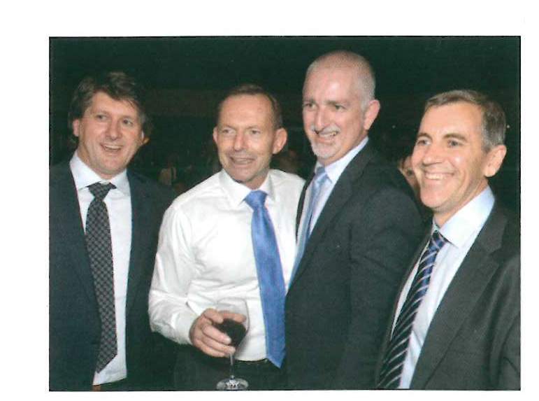 500 Club Newsletter April 2015 CSA Stan Jeff Peter with Hon Tony Abbot.jpg