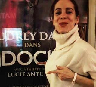 Audrey Dana avec le Bracelet Bretelle Rose poudré de Cocotte Power en 2017