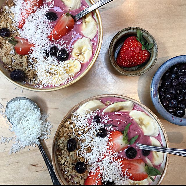New Brunch Menu... added smoothie bowl options - Açaí Bowl, PB Açaí Bowl, Pitaya Bowl and Superfood Bowls now available #joesbrunch #joesandbros  #brunch